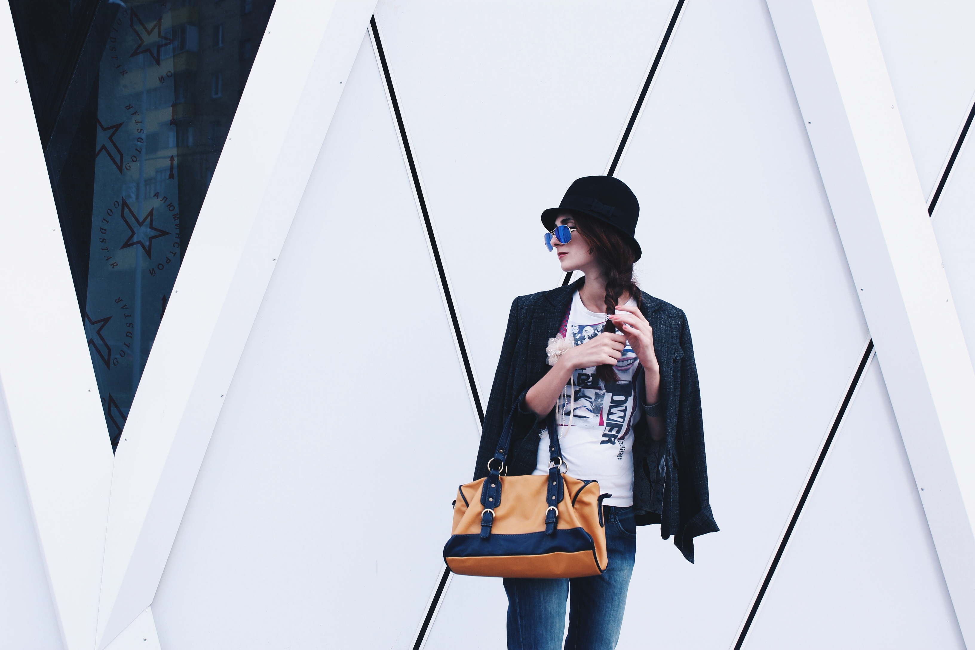 my chocolate novelty, maria chamourlidou, russian blogger, street style, ray ban, diva, calvin klein jeans, cacharel, vintage look, летний лук, российский блогер