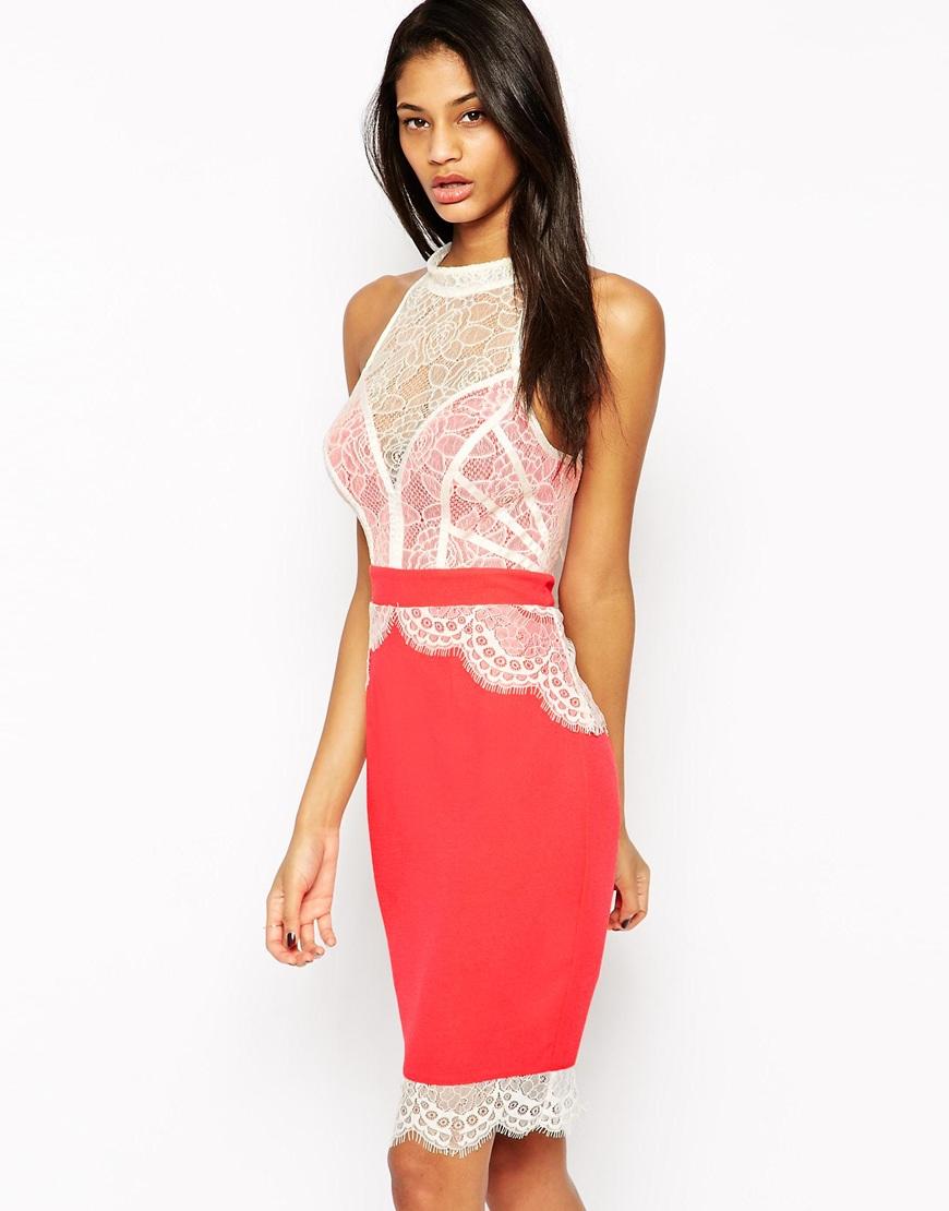 Платье с кружевом сверху